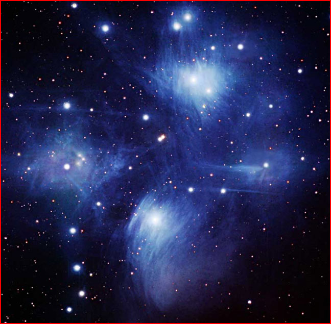 Took a picture of the Pleiades. This cluster was observed