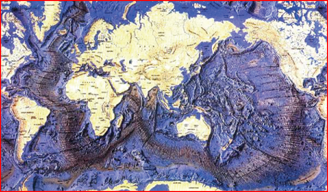 Ocean Floor Elevation Map : The worzel deep sea ash