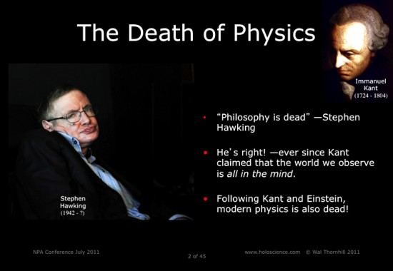 Death of physics