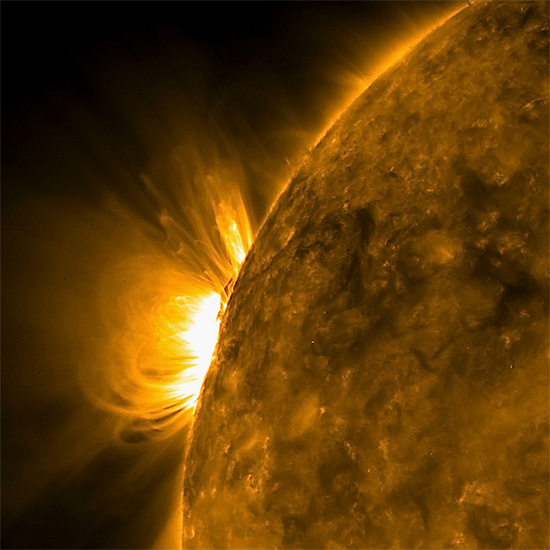 An exploding double layer on the Sun