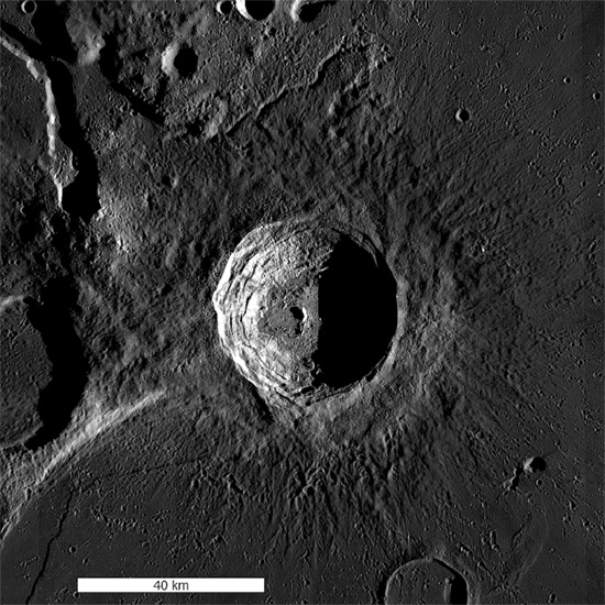 Aristarchus crater on the Moon