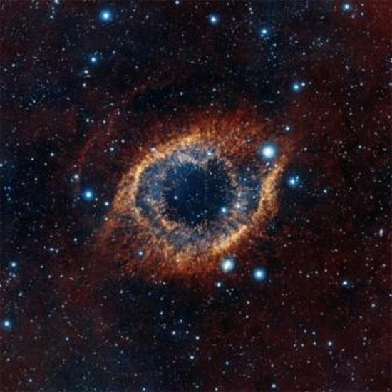 New infrared image of the Helix Nebula in Aquarius