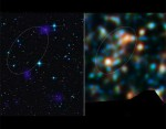 Clusters of galaxies on the same electric circuit. Credit: ESA/NASA/JPL-Caltech/CXC/McGill University