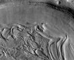 "Unnamed crater with ""concentric fill"" in the northern Martian highlands. Credit: NASA/HiRISE."