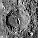 Unnamed &quot;pit-floor crater&quot; on Mercury. Credit: NASA/Johns Hopkins University Applied Physics Laboratory/Smithsonian Institution/Carnegie Institution of Washington