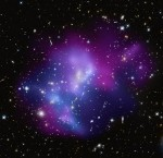 Composite image of galaxy cluster MACSJ0717.5+3745 from HST and Chandra. Credit: X-ray (NASA/CXC/IfA/C. Ma et al.); Optical (NASA/STScI/IfA/C. Ma et al.)