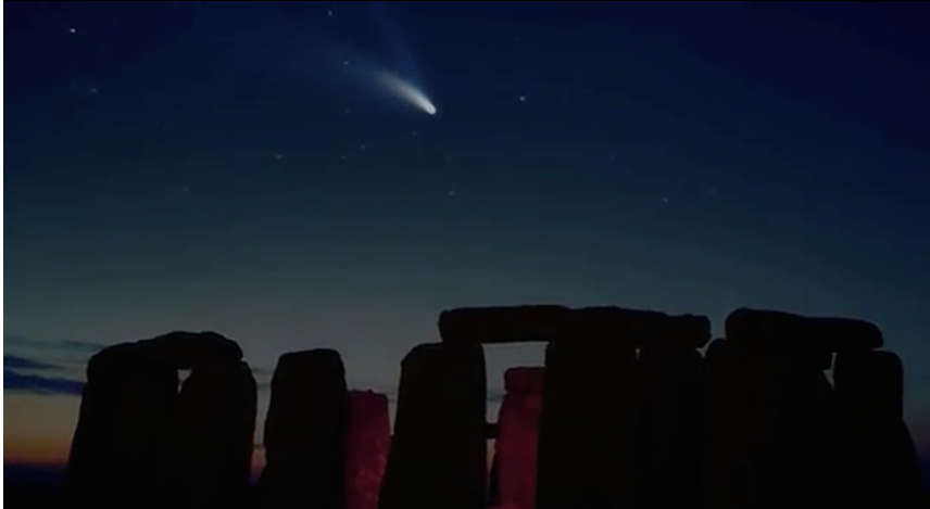 Image from the 90-minute documentary, The Electric Comet.  Credit: Philip Perkins, 1997