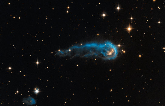 "False-color image of ""protostar"" IRAS 20324+4057. Image credit: NASA, ESA, the Hubble Heritage Team (STScI/AURA), and IPHAS."
