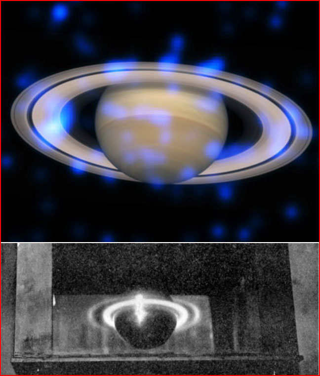 Saturn's Rings Sparkle in X-rays