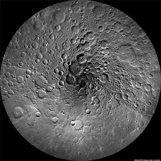 The Moon's north pole