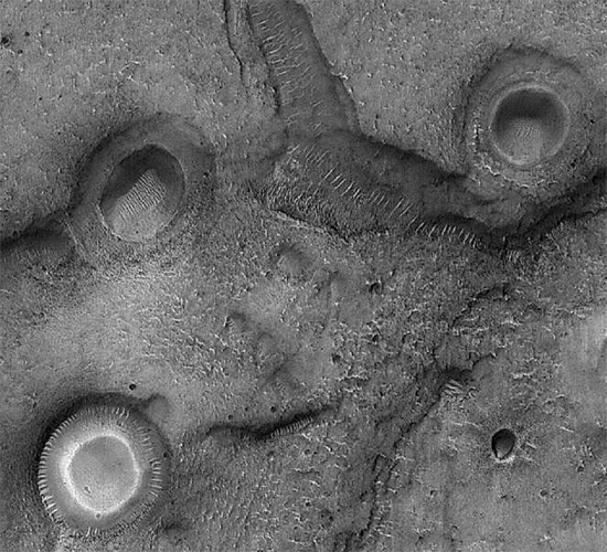Mare Acidalium quadrangle on Mars