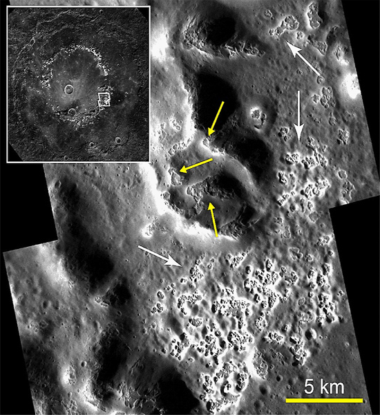 Inside Raditladi Basin on Mercury