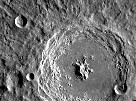 Bartok crater on Mercury