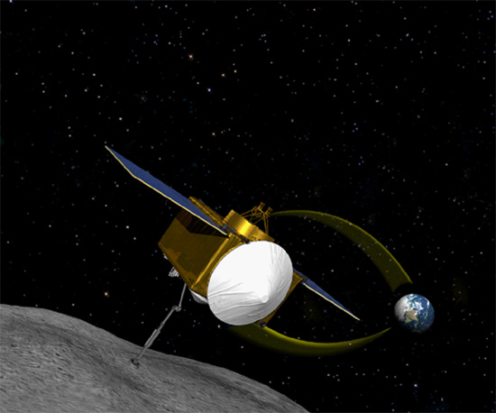 Artist's drawing of the OSIRIS-REx spacecraft