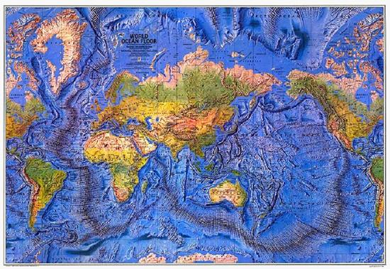 Ocean floor map