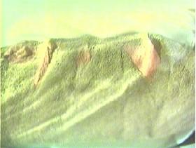 Martian landscape within a quart bottle