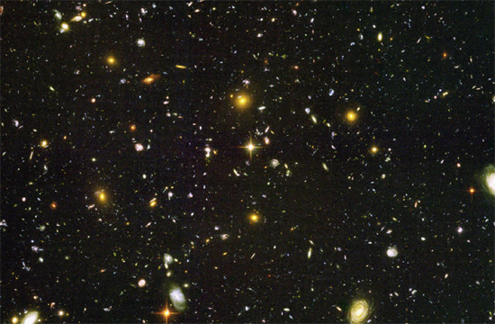 Portion of the Hubble Ultra Deep Field