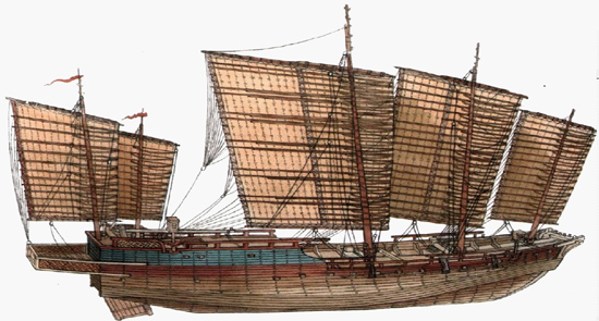 The Chinese junk