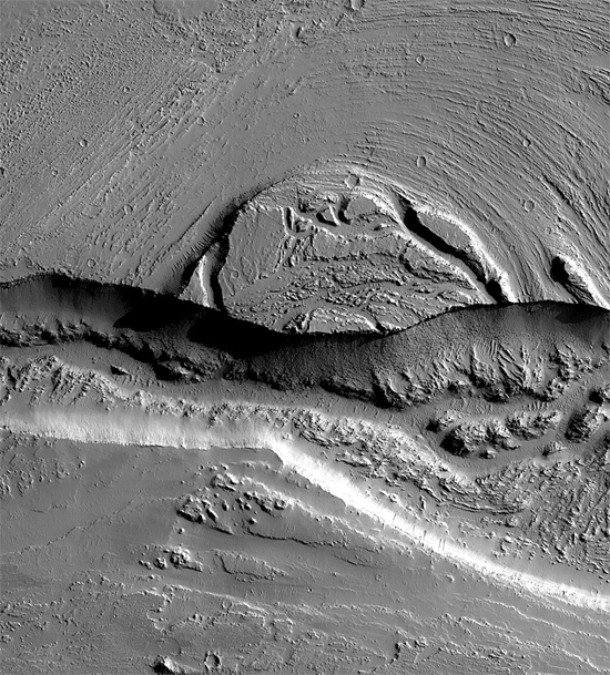 Olympia Fossae in the Martian Tharsis region