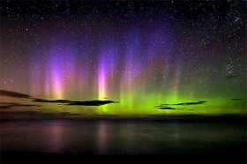 The Northern Lights above Lake Superior. Photographer unknown.