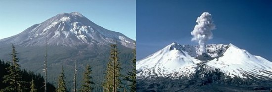 Mount St Helens before and after the 1980 Isohypse Reconnection Event