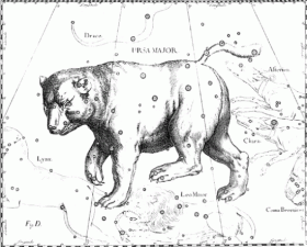 Callisto transformed by Zeus into a constellation