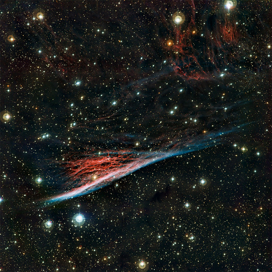 Pencil Nebula. Credit: ESO