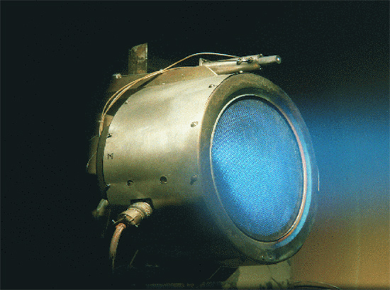 The Helicon Double Layer Thruster (HDLT). Credit: Australian National University Research School of Physical Sciences and Engineering.