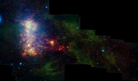 Infrared image of the Small Magellanic Cloud. Credit: NASA/JPL-Caltech/STScI.