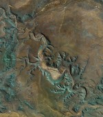 Exotic geological formation in Namibia. Credit: Google Earth