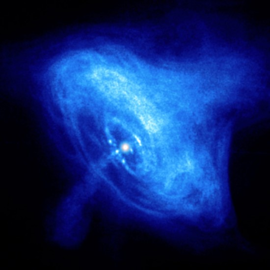 The Crab Nebula pulsar, a hypothetical neutron star. Credit: NASA/CXC/ASU/J. Hester et al.