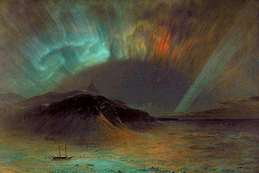 Aurora Borealis by Frederic Edwin Church (1865). Smithsonian American Art Museum, Washington, United States of America.