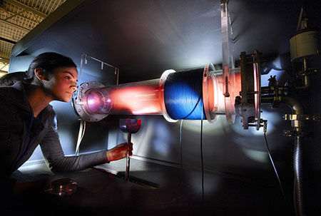 While plasma studies may focus on a single subject such as fusion energy production, the understanding of how the Universe operates also awaits the student with a wider interest. Image credit: DOE-Princeton Plasma Physics Lab; Peter Ginter.