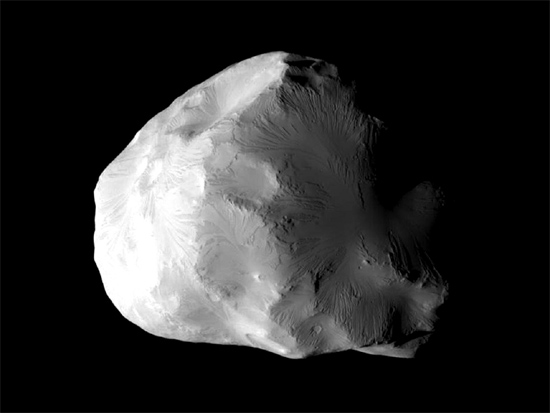 Saturn's moon Helene. Credit: NASA/JPL-Caltech/Space Science Institute