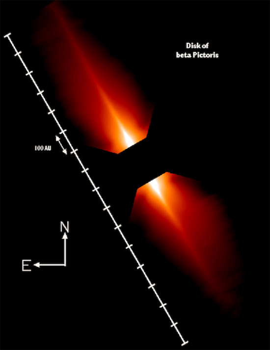 So-called protoplanetary disk around beta Pictoris. Credit: HST/NASA
