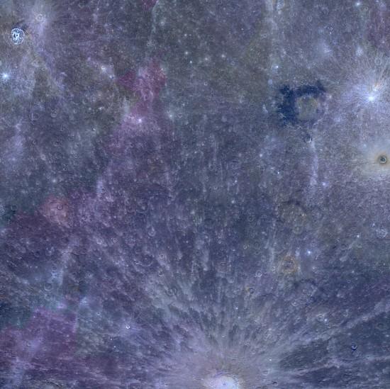 New image of Mercury using three image filters: 996 nanometers (red), 748 nanometers (green), and 433 nanometers (blue). Credit: NASA/Johns Hopkins University Applied Physics Laboratory/Carnegie Institution of Washington.