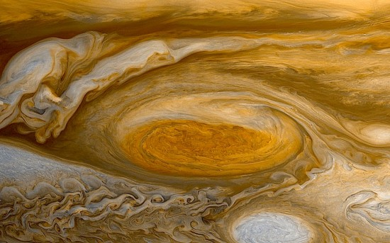 Jupiter's Great Red Spot from the New Horizons spacecraft in transit to Pluto. Credit: NASA/JPL