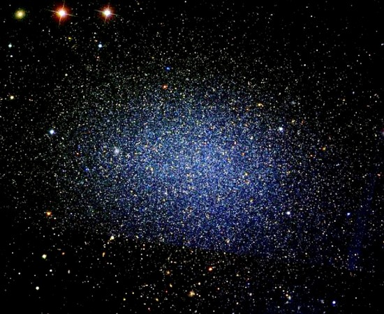 The Leo I Dwarf Galaxy (also designated PGC 29488 and UGC 5470) orbits the Milky Way at a distance of 820,000 light-years, as astronomers measure distance. Image credit: David Malin
