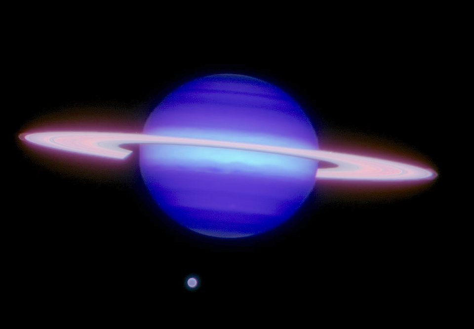 Saturn supernova the thunderbolts project saturn and its largest moon titan credit gemini observatoryaurahenry thecheapjerseys Images