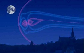 If Jupiter's magnetosphere were in glow mode, it would be the largest structure visible in the night sky. Credit: NASA