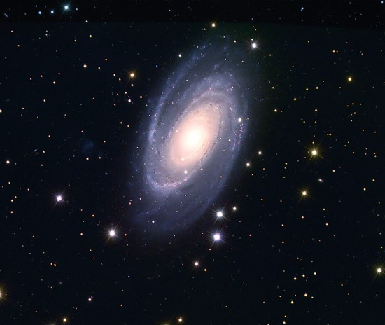 """Galaxy M81 (NGC 3031, """"Bode's Galaxy""""). Image credit: © Don Scott The Holin A. Grotch Observatory"""