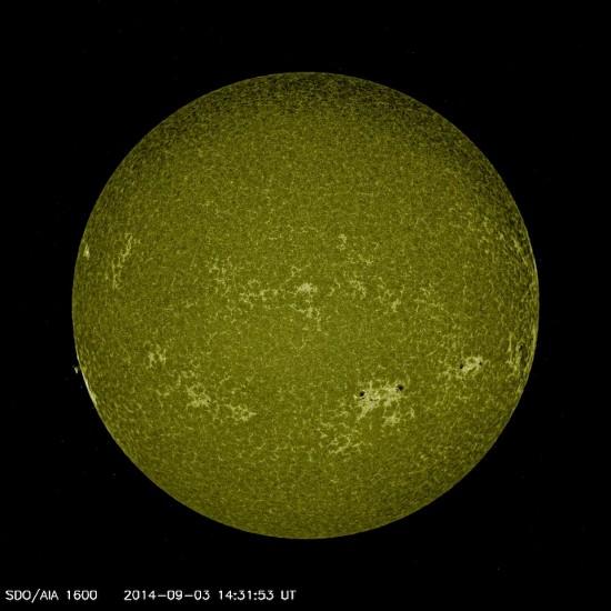 The Sun's upper photosphere in far ultraviolet. Credit: NASA/Solar Dynamics Observatory