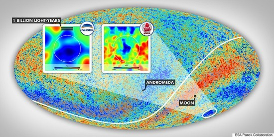 A putative temperature map of the Universe. Image credit: Gergő Kránicz, ESA Planck Collaboration