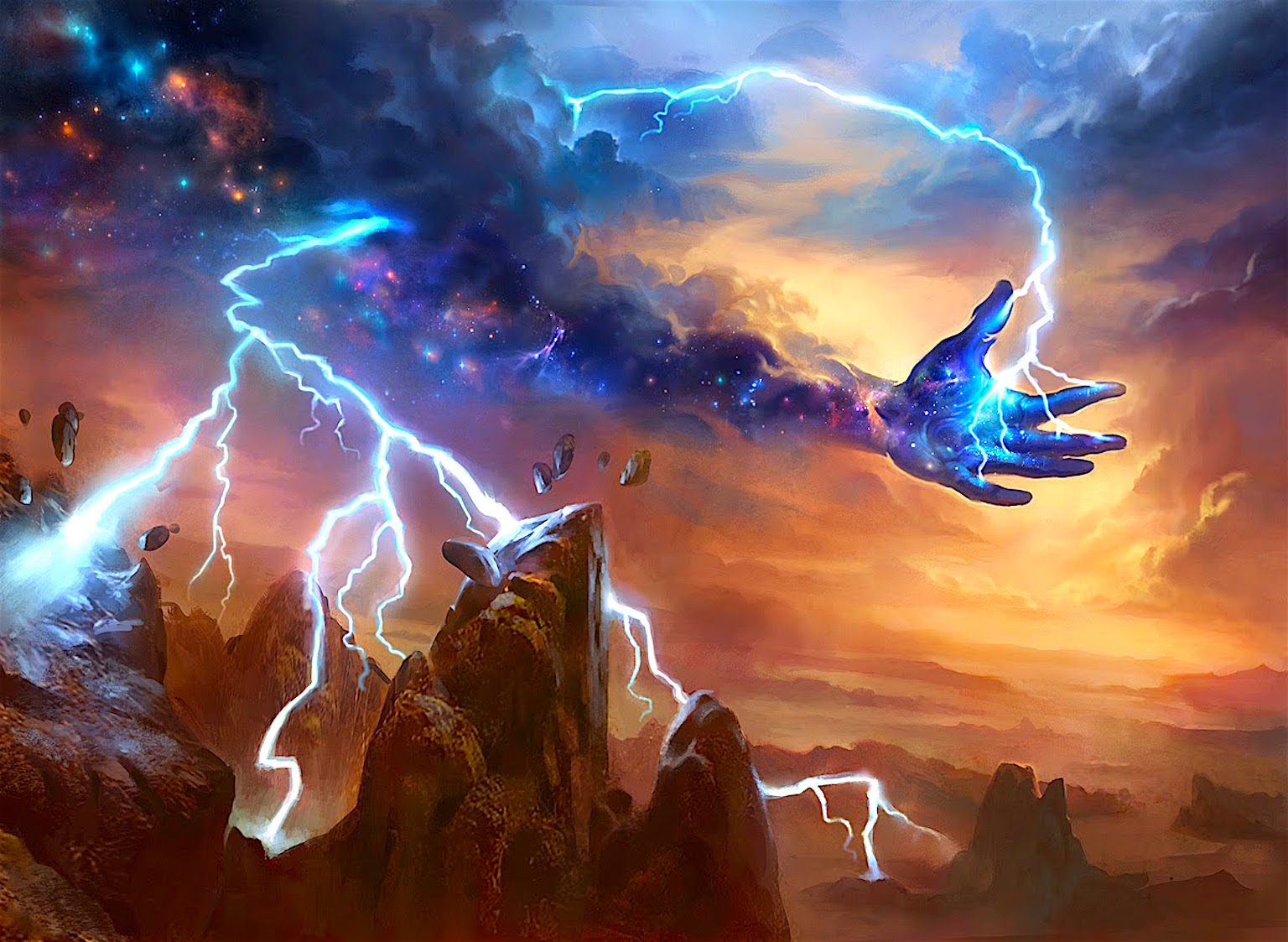 Lightning Strike (Theros) by Adam Paquette