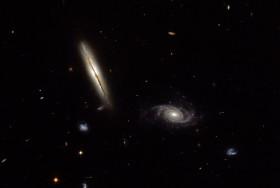 Edge-on spiral galaxy LO095 0313-192. Credit: ESA/Hubble & NASA; acknowledgement, Judy Schmidt